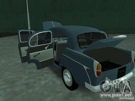 Moskvich 407 para vista lateral GTA San Andreas