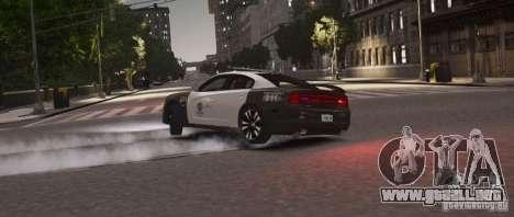 Dodge Charger 2011 Police para GTA 4 Vista posterior izquierda