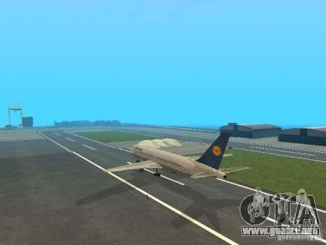 Boeing 767-300 Lufthansa para la visión correcta GTA San Andreas