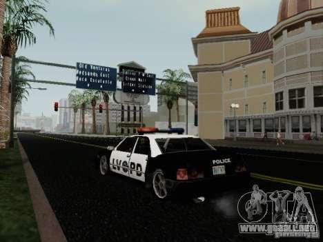 Sunrise Police LV para GTA San Andreas vista posterior izquierda