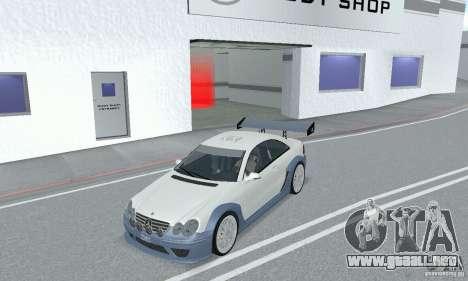 Mercedes-Benz CLK DTM AMG para GTA San Andreas vista hacia atrás