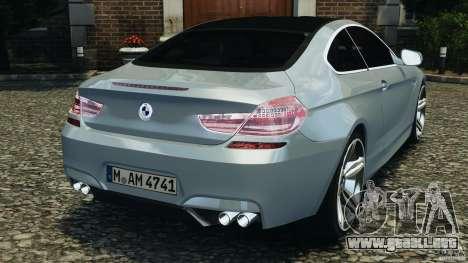 BMW M6 Coupe F12 2013 v1.0 para GTA 4 Vista posterior izquierda
