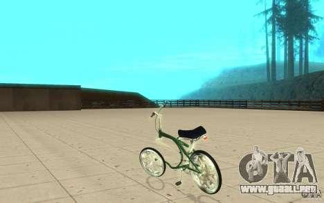 Custom Bike para GTA San Andreas vista posterior izquierda