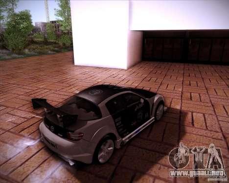 Mazda RX-8 para vista lateral GTA San Andreas