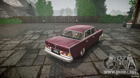 Mercedes Benz W111 Final para GTA 4 Vista posterior izquierda