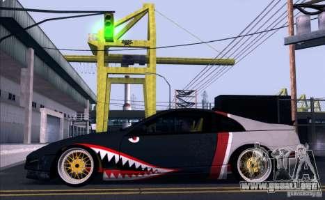 Nissan 300ZX Bad Shark para GTA San Andreas vista hacia atrás