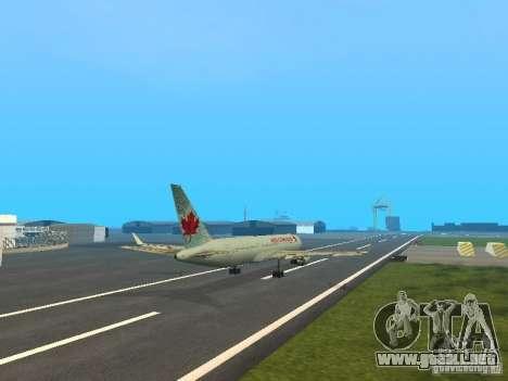 Boeing 767-300 Air Canada para visión interna GTA San Andreas