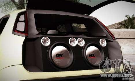 Fiat Punto Evo 2010 Edit para la vista superior GTA San Andreas