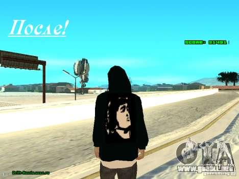 Ropa con Victor Coem para GTA San Andreas sucesivamente de pantalla