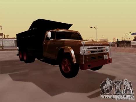 Dodge Dumper para GTA San Andreas left