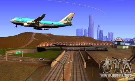 Boeing 747 KLM para la visión correcta GTA San Andreas