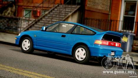 Honda CR-X SiR 1991 para GTA 4 vista interior