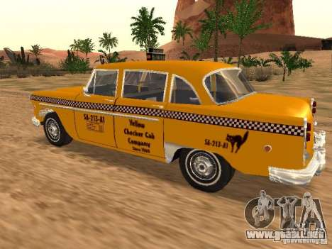 Checker Marathon Yellow CAB para GTA San Andreas left