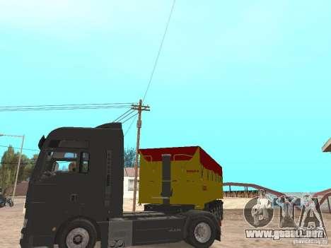 Remolques volquetes para GTA San Andreas vista hacia atrás