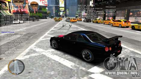 Nissan SkyLine R34 GT-R V-spec II para GTA 4 Vista posterior izquierda