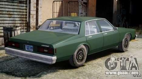 Chevrolet Impala 1983 v2.0 para GTA 4 visión correcta