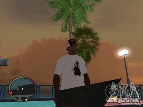 Bleach t-shirt para GTA San Andreas segunda pantalla