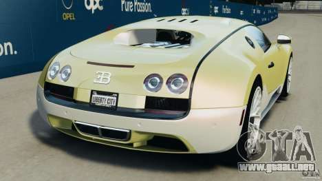 Bugatti Veyron 16.4 Super Sport 2011 v1.0 [EPM] para GTA 4 Vista posterior izquierda