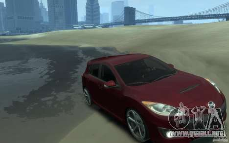 Mazda 3 MPS 2010 para GTA 4 vista hacia atrás