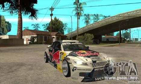 Mazda RX8 NFS Team Mad Mike para GTA San Andreas vista hacia atrás