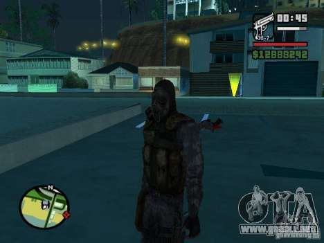 Mercenario acosador en la nueva kombeze para GTA San Andreas segunda pantalla