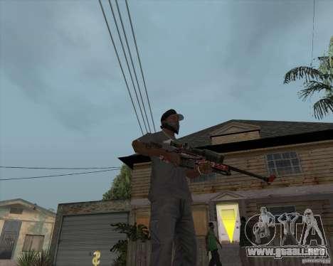 Accuracy International L96A1 para GTA San Andreas segunda pantalla