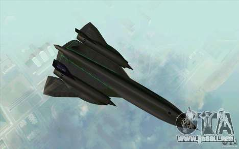 SR-71A BLACKBIRD BETA para GTA San Andreas left