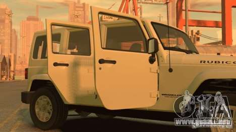 Jeep Wrangler Unlimited Rubicon 2013 para GTA 4 left