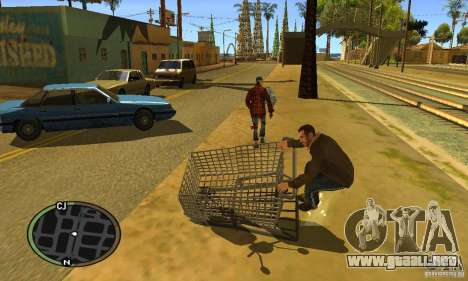 Shopping Cart Faggio V2 para GTA San Andreas left