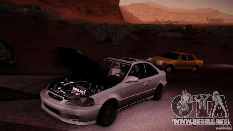 Honda Civic Coupe Si Coupe 1999 para GTA San Andreas vista hacia atrás