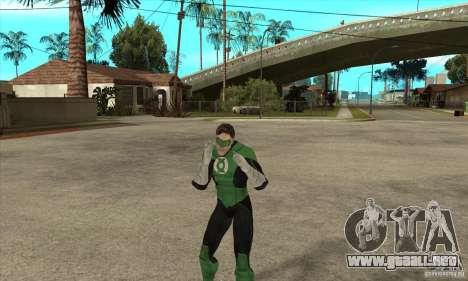 Green Lantern para GTA San Andreas quinta pantalla