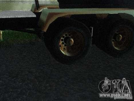 Armored Mack Titan Fuel Truck para GTA San Andreas vista hacia atrás