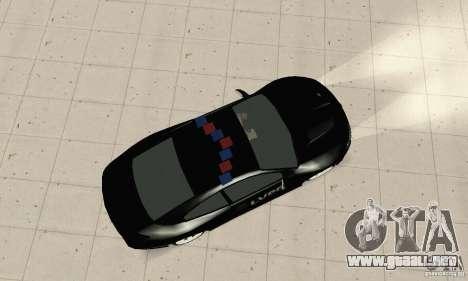 Pontiac GTO 2004 Cop para GTA San Andreas vista posterior izquierda