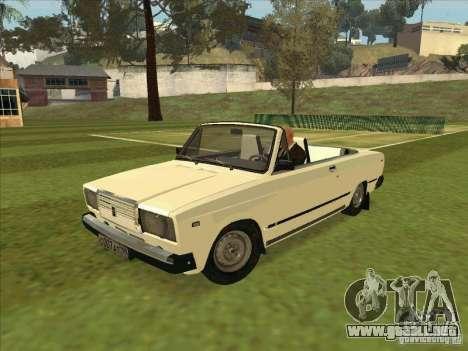 VAZ 2107 convertible para GTA San Andreas