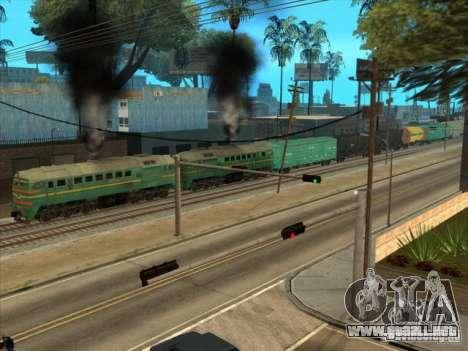 Carga Estados bálticos locomotora ferroviaria fo para GTA San Andreas vista hacia atrás
