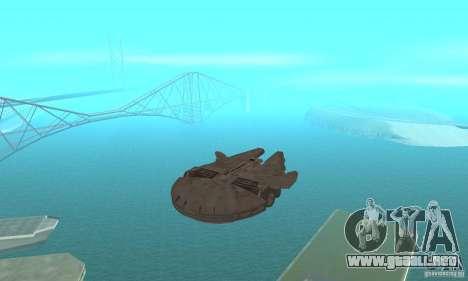 Millenium Falcon! para GTA San Andreas vista hacia atrás