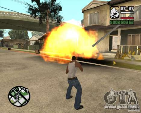 Explosión para GTA San Andreas segunda pantalla