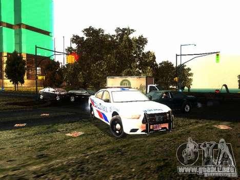 Dodge Charger 2011 Toronto Police para GTA San Andreas vista hacia atrás