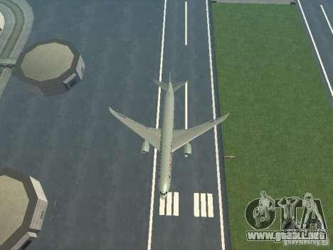 Boeing 787 Dreamliner Air Canada para la vista superior GTA San Andreas