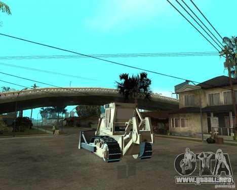 Komatsu D355A para GTA San Andreas vista posterior izquierda
