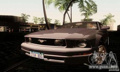 Ford Mustang GT Tunable para GTA San Andreas vista posterior izquierda