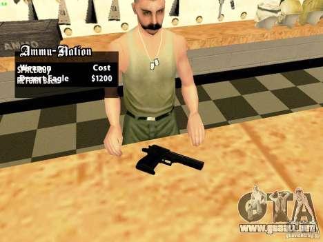 Desert Eagle MW3 para GTA San Andreas segunda pantalla