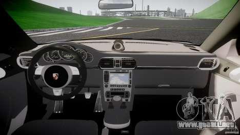 Porsche GT3 997 para GTA 4 vista superior