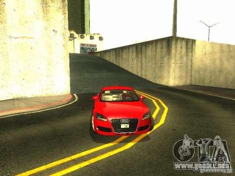 Audi TT 2009 v2.0 para la vista superior GTA San Andreas