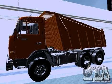 KAMAZ 54115 camión para GTA San Andreas left