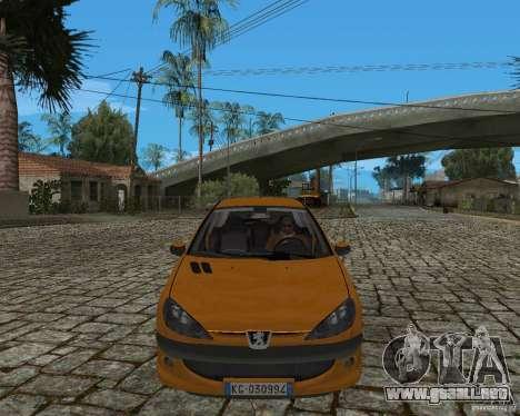 Peugeot 306 para GTA San Andreas vista posterior izquierda