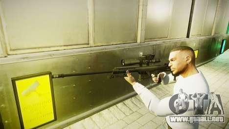 Barrett 98B (francotirador) para GTA 4 segundos de pantalla