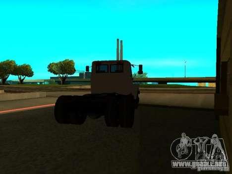 GAZ 3309 tractor para GTA San Andreas vista posterior izquierda