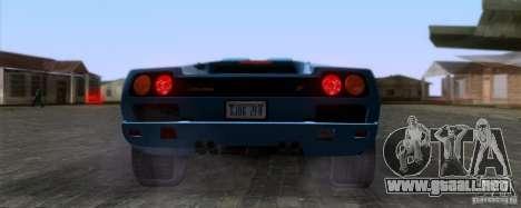Lamborghini Diablo SV V1.0 para GTA San Andreas vista hacia atrás