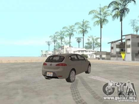 Seat Leon Cupra para GTA San Andreas vista posterior izquierda